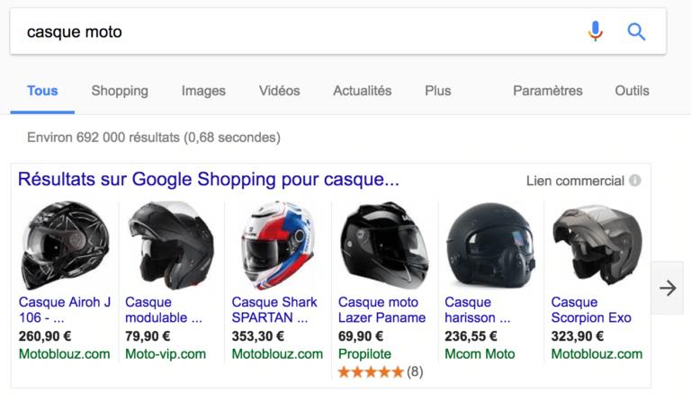 Vendre sur Google Shopping